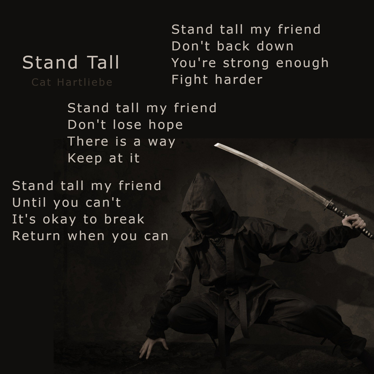 stand tall poem